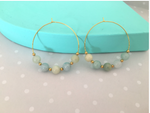 Gemstone Hoops by Handmade Dezigns