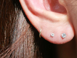 Sparkly Tiny CZ Stud Earrings