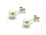 Little Pearl Stud Earrings by Handmade Dezigns