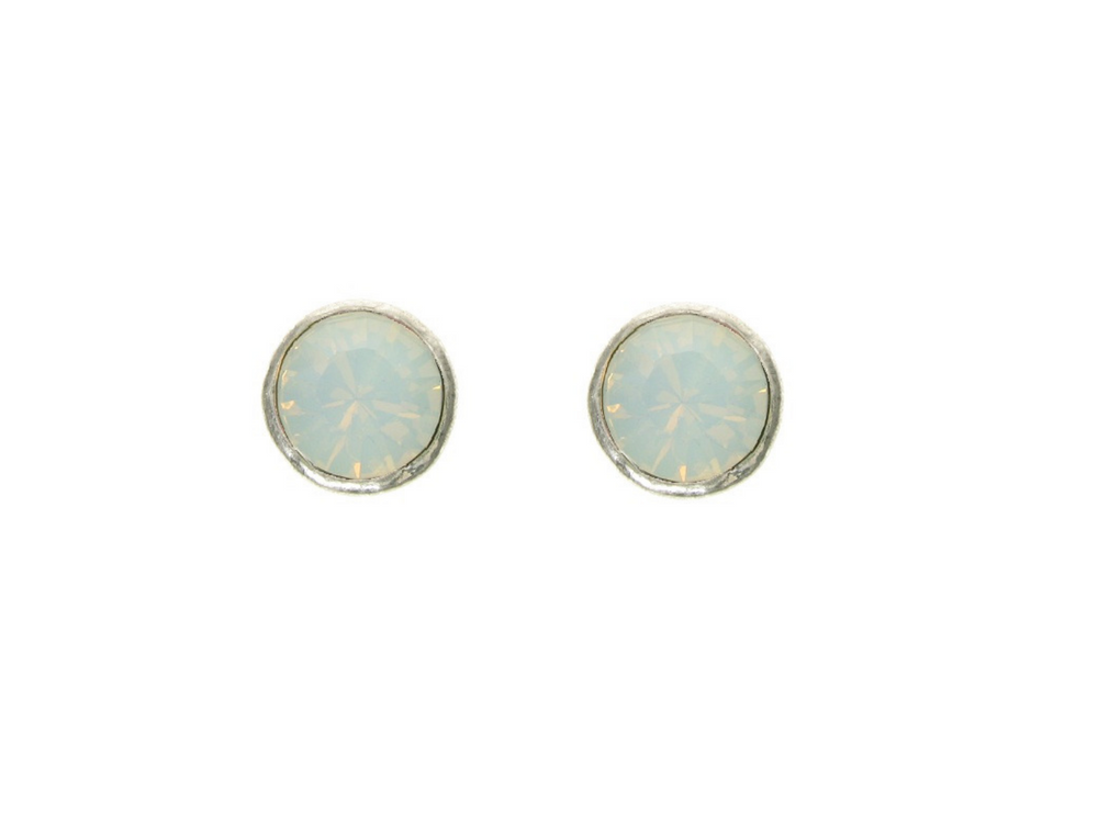 Little White Opal Stud Earrings by Handmade Dezigns