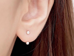 Double Ball Ear Jacket Earrings