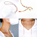 Rainbow Beaded Holder Chain