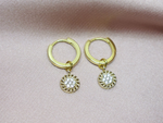 Pave Circle Hoop Earrings