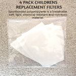 Kids 4 Pack Replacement Filters for Face Mask