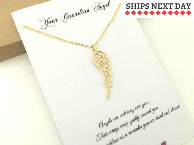 Gold Wing Necklace by Handmade Dezigns