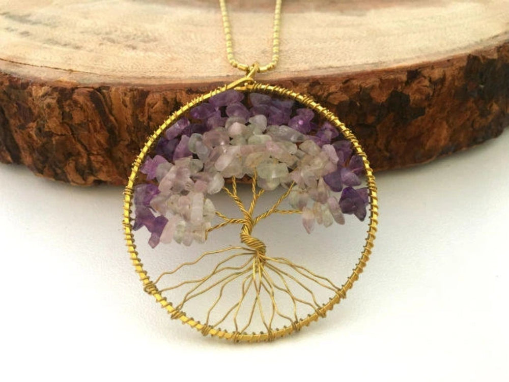 Natural Stone Tree of Life Necklace by Handmade Dezigns