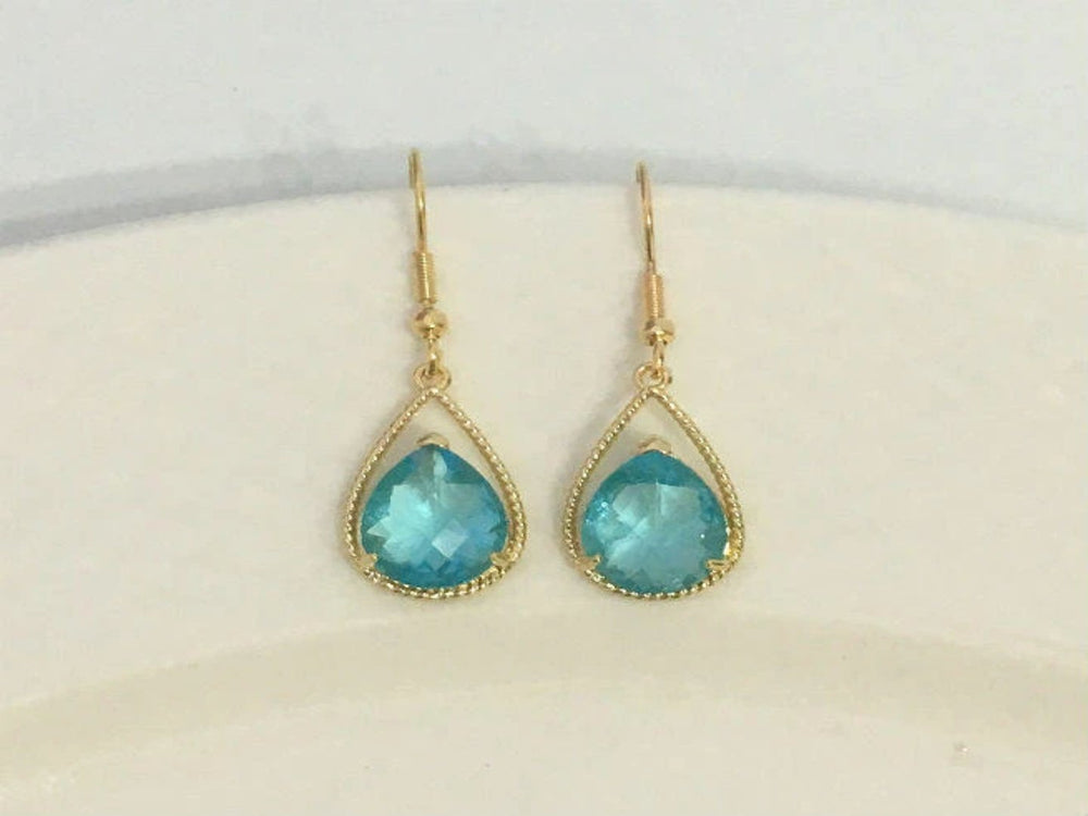 Aquamarine Statement Earrings