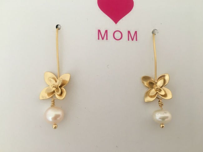 Gold Threader & Pearl Drop Earrings