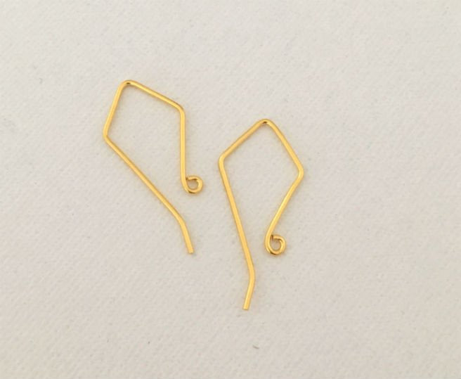 Gold Vermeil Ear Wires by Handmade Dezigns