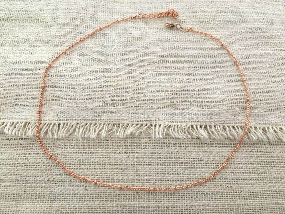 Ultra Thin  Short Layering Necklace by Handmade Dezigns