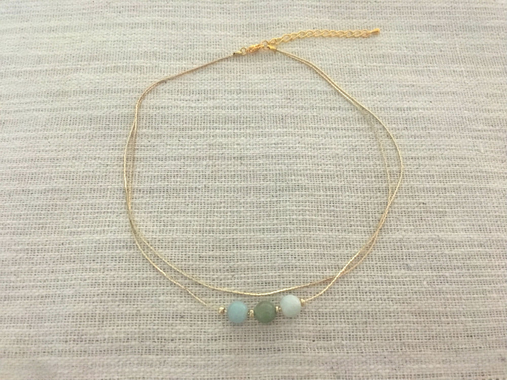 Amazonite Multi Strand Necklace by Handmade Dezigns
