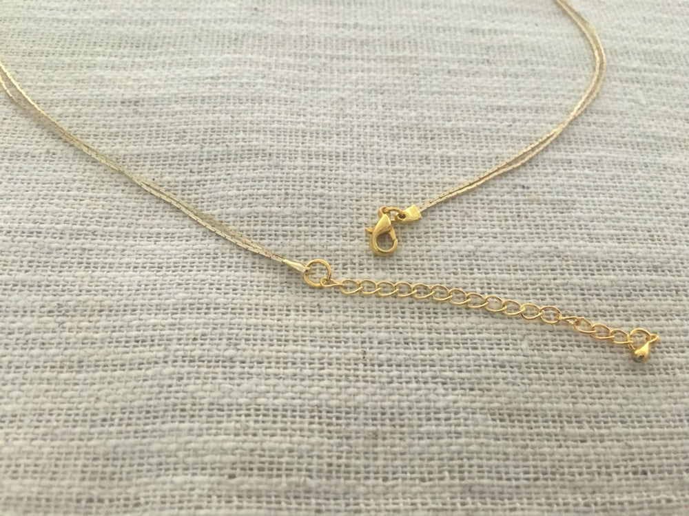 Moonstone Double Gold Necklace by Handmade Dezigns
