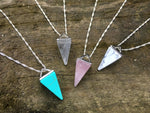 Raw Gemstone Pyramid Layering Necklace by Handmade Dezigns