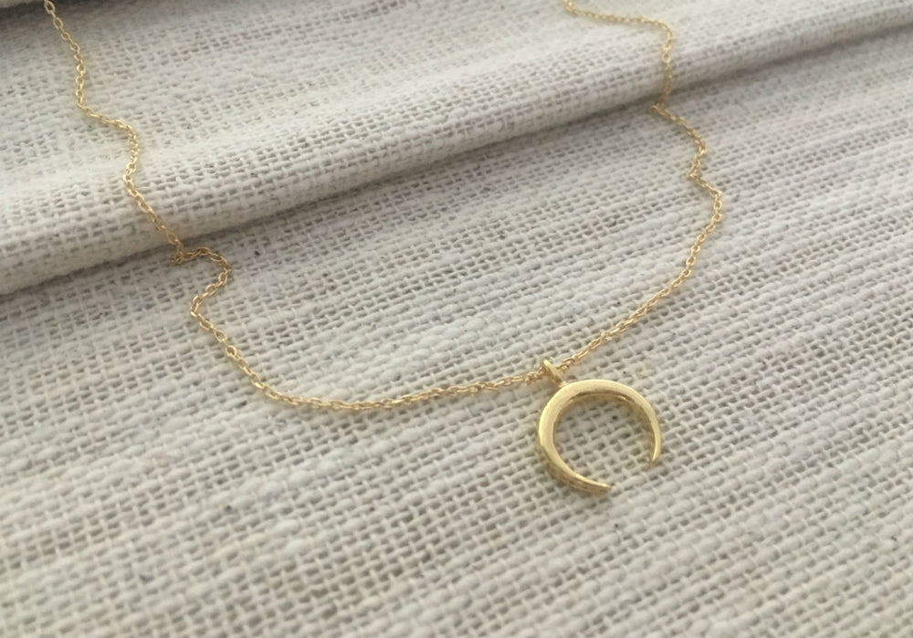 Crescent Moon Necklace by Handmade Dezigns