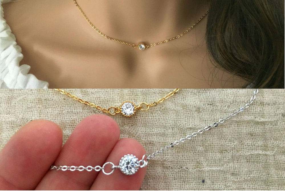 Cubic Zirconia Necklace by Handmade Dezigns