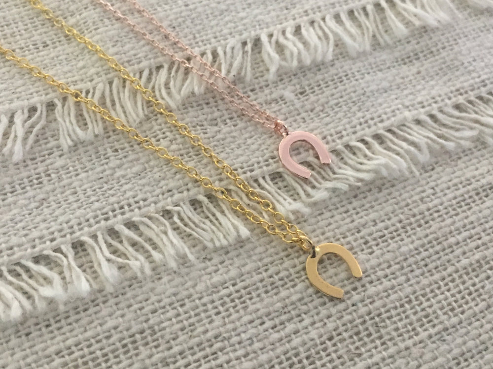 Little Horseshoe Necklace by Handmade Dezigns