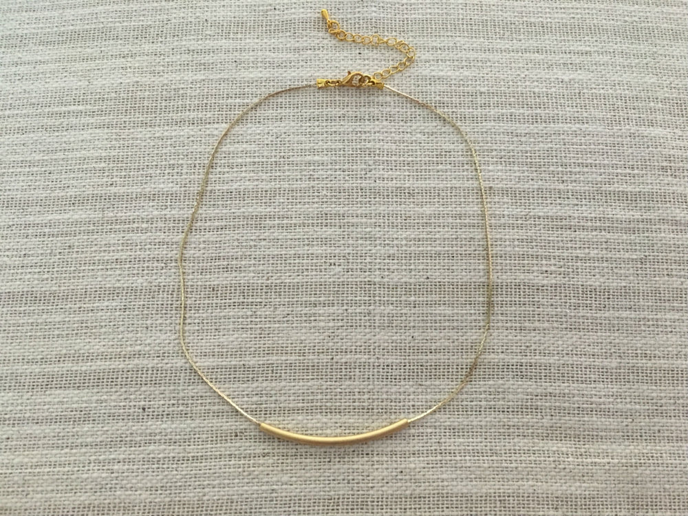 Gold Balance Necklace by Handmade Dezigns