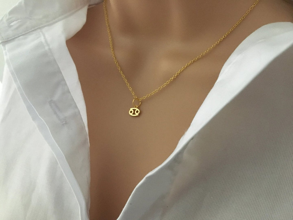 Tiny Zodiac Necklace by Handmade Dezigns