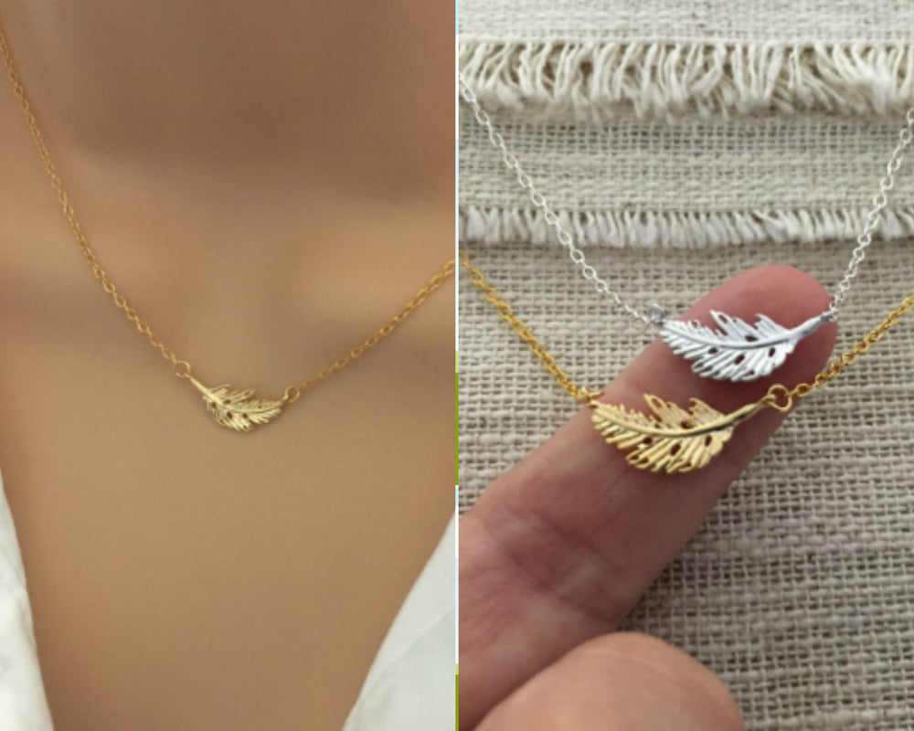 Little Leaf Necklace by Handmade Dezigns
