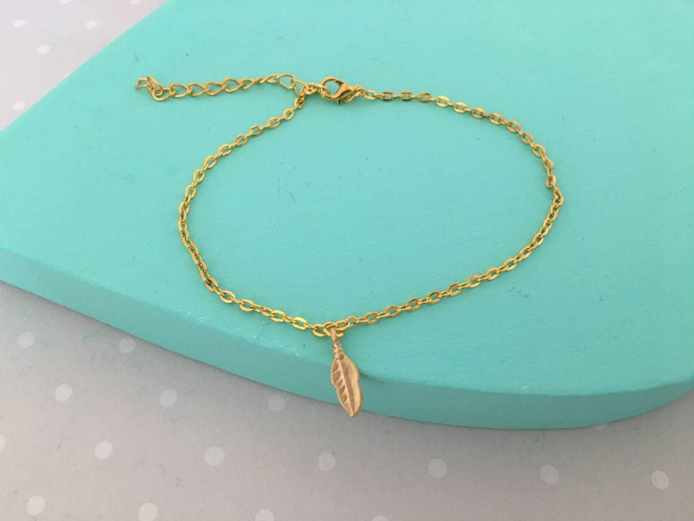 Gold Wing Anklet by Handmade Dezigns