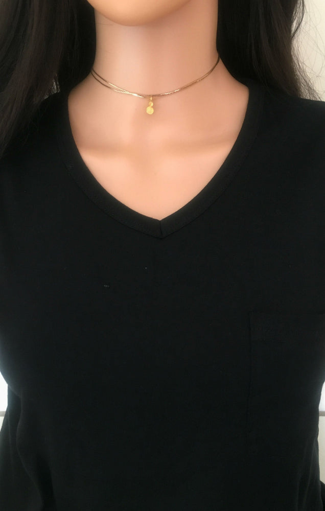 Dual Gold Layering Necklace by Handmade Dezigns