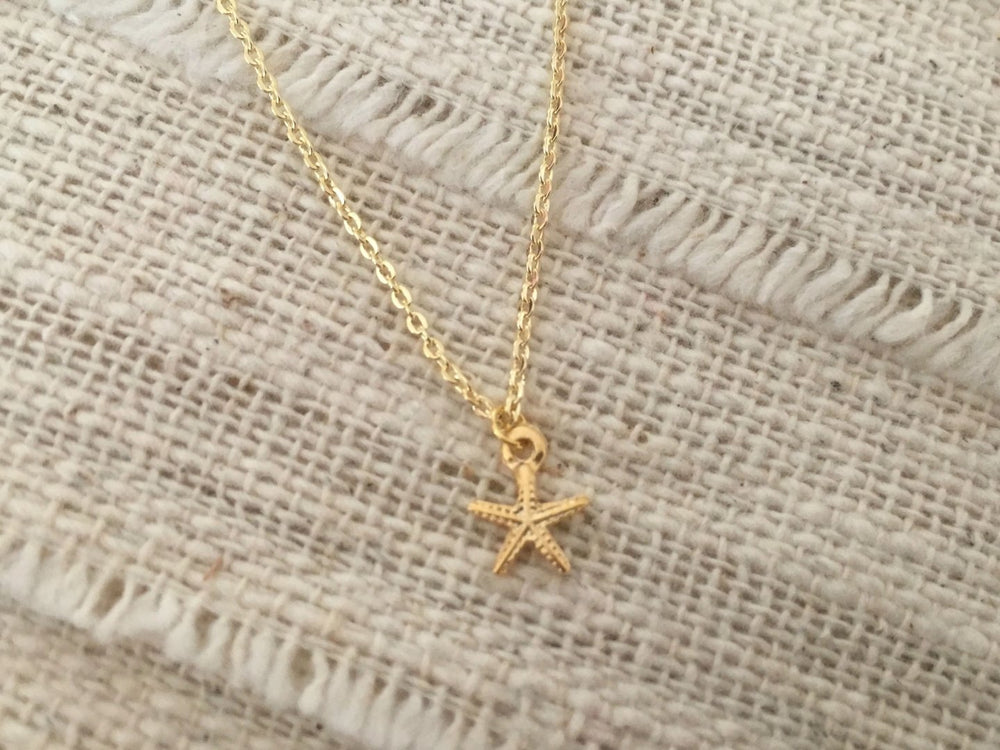 Tiny Starfish Necklace by Handmade Dezigns