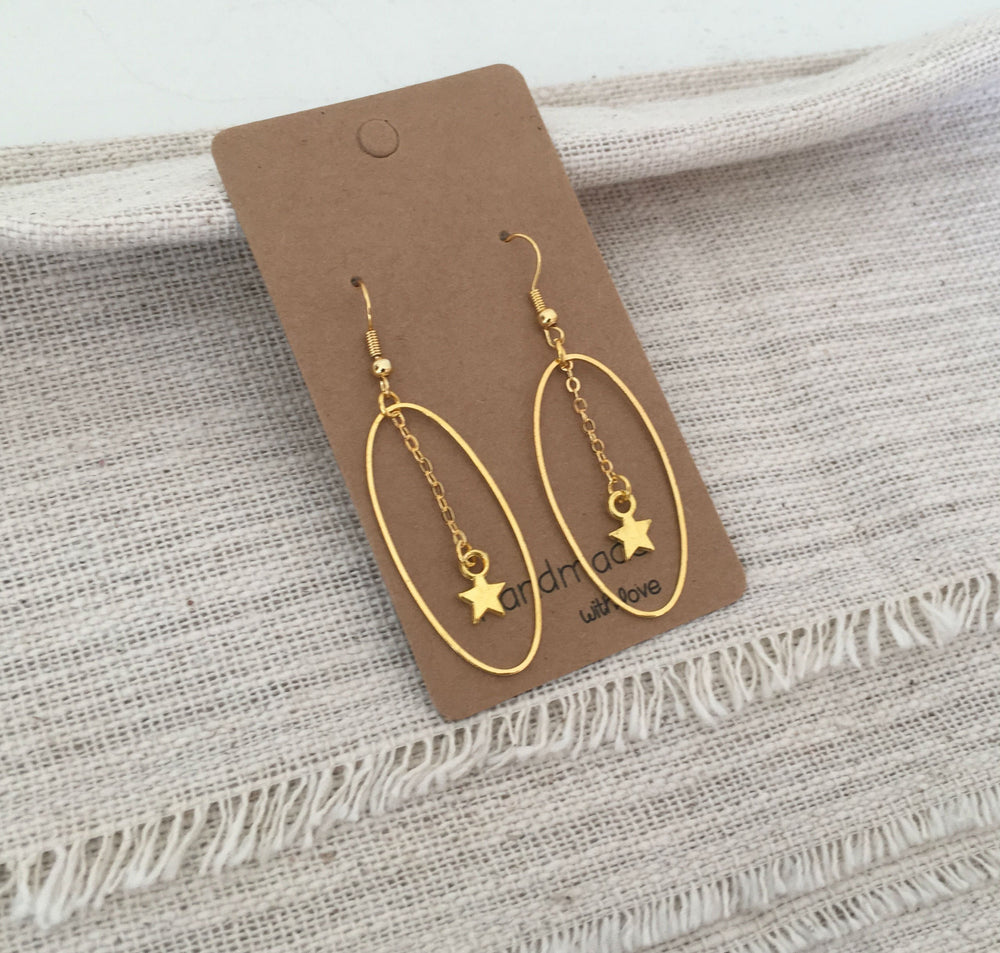 Star Dangle Earrings by Handmade Dezigns