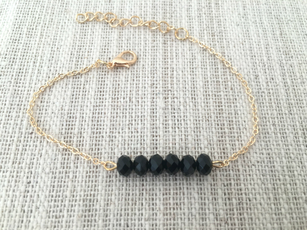 Dainty Crystal Bracelet by Handmade Dezigns
