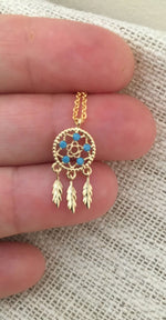 Teeny Tiny Dreamcatcher Choker by Handmade Dezigns