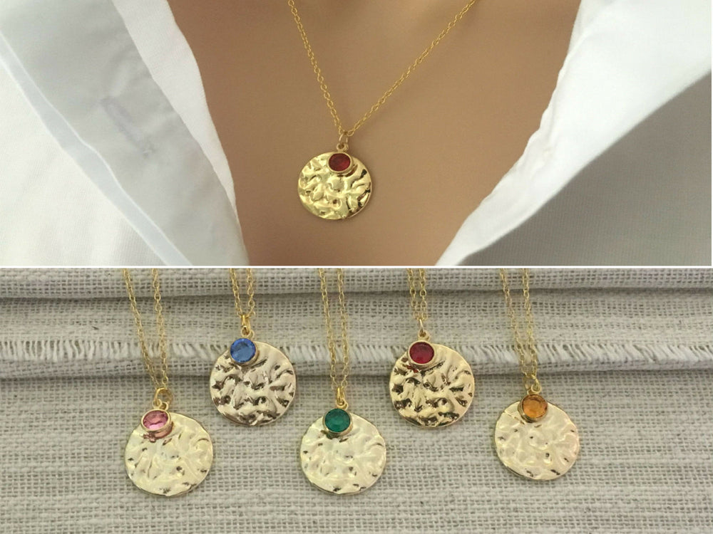 Twinkling Gold Disc Layering Necklace