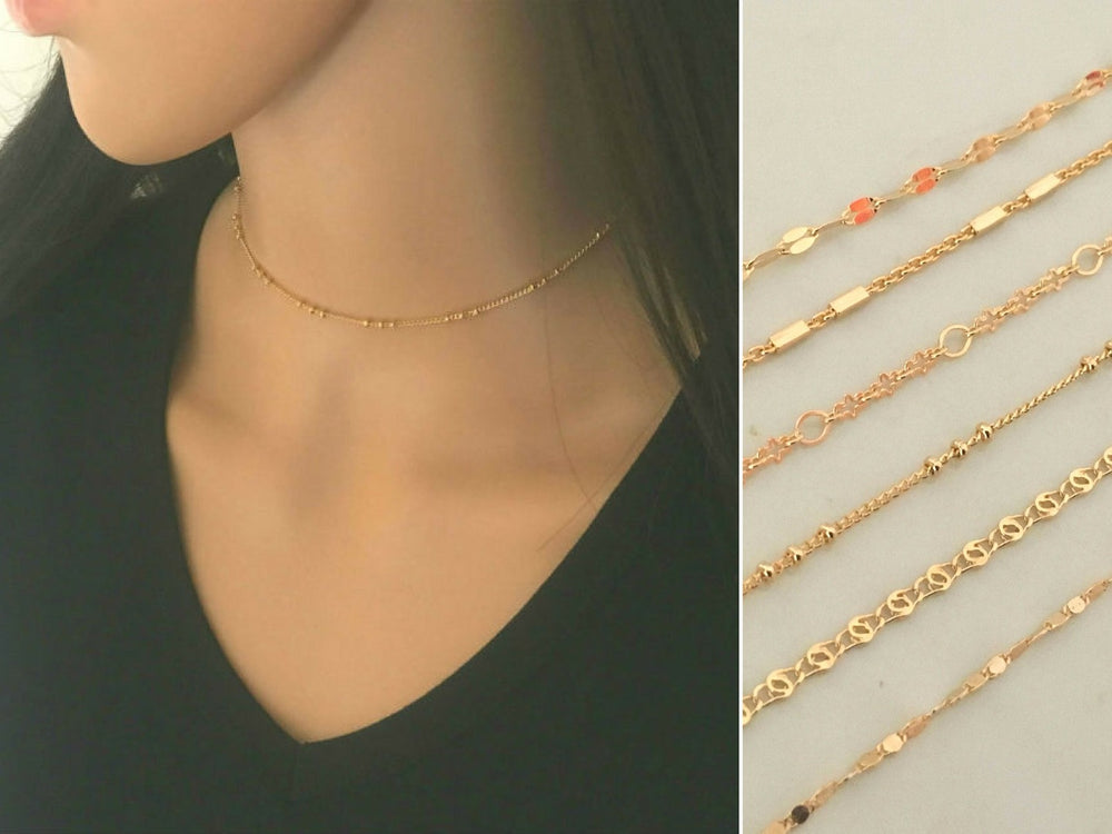 Gold Choker Necklace