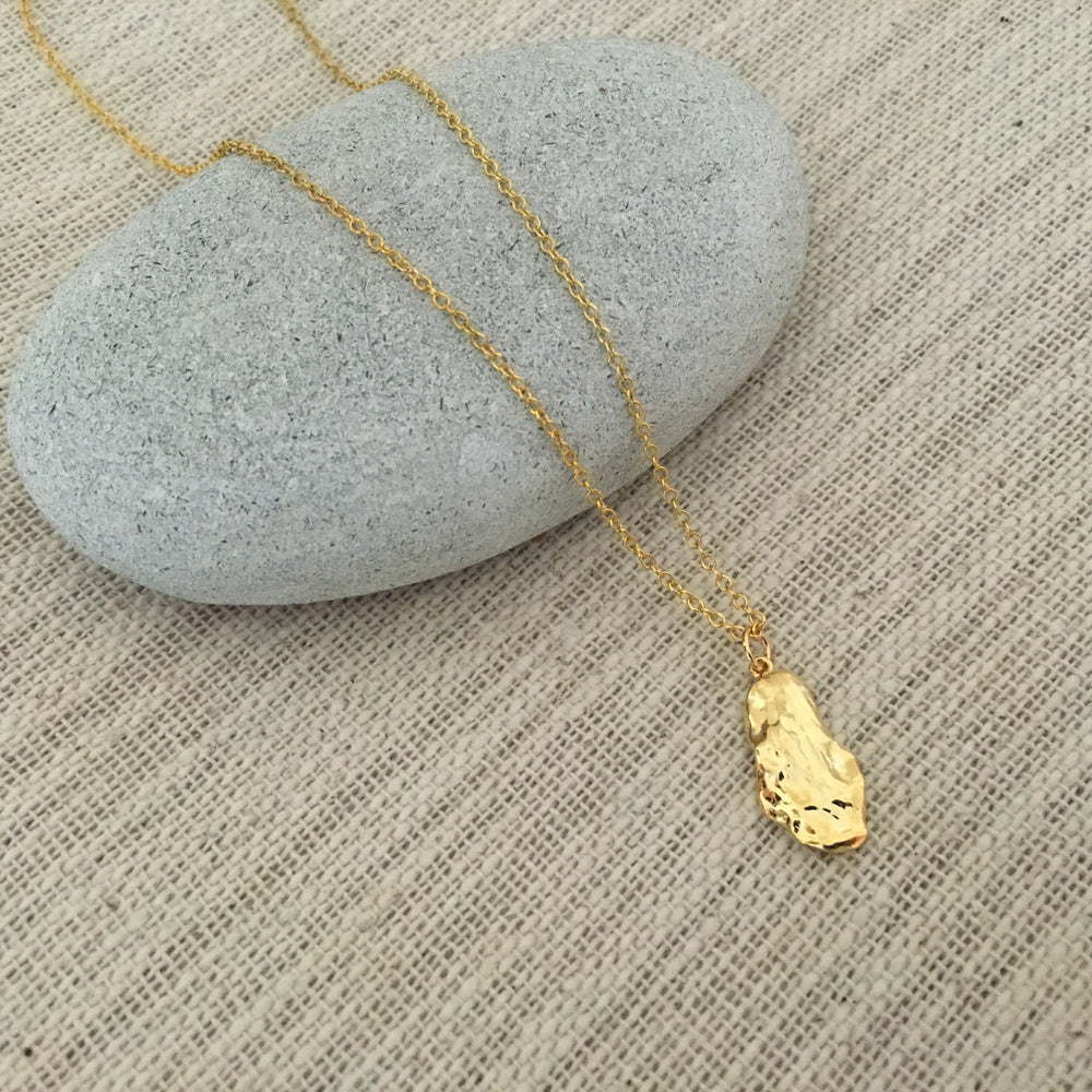 Gold Oyster Shell Necklace by Handmade Dezigns