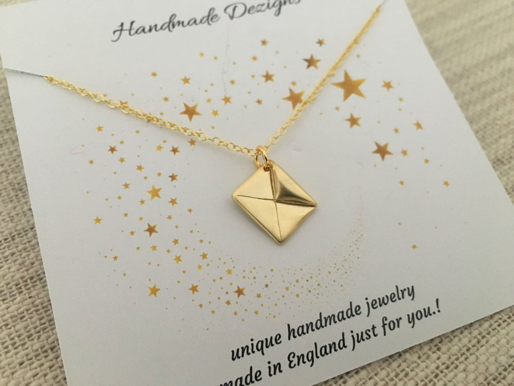 Love Letter Gold Necklace by Handmade Dezigns