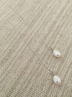 Sterling Silver Pearl Threader Earrings by Handmade Dezigns