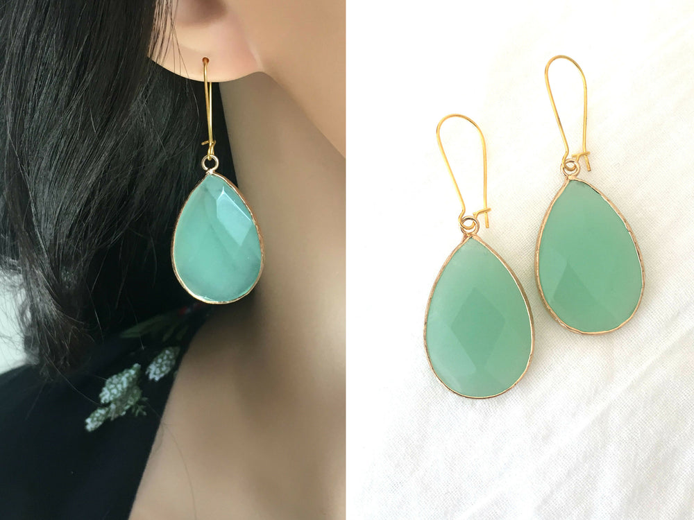 Jade Chalcedony Earrings