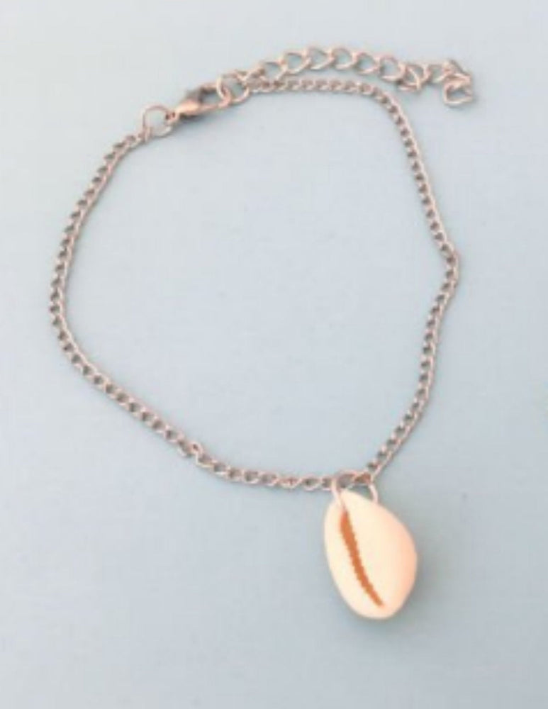 Cowrie Shell Seashell Anklet by Handmade Dezigns