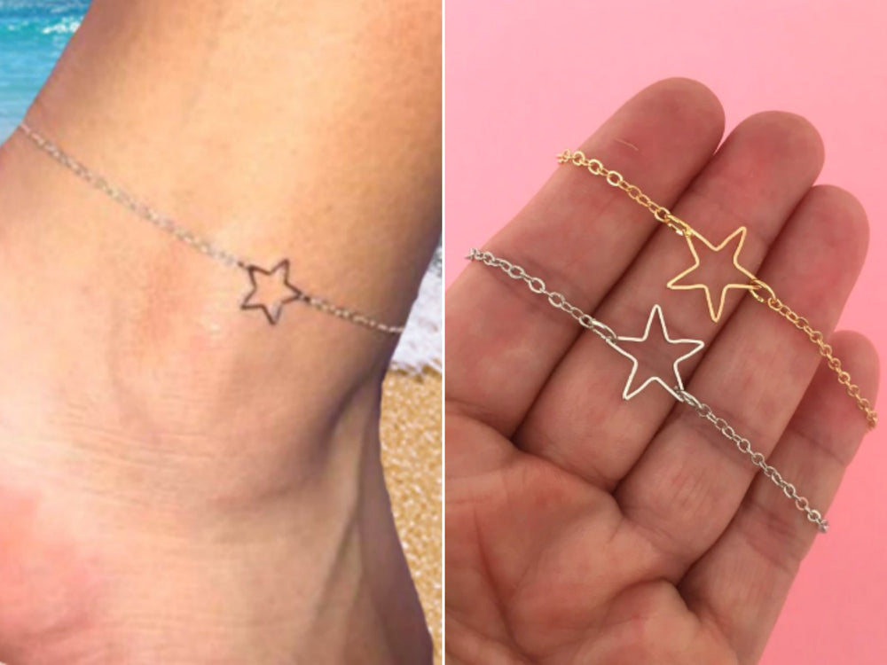 Star Anklet by Handmade Dezigns