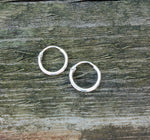 Sterling Silver Hoop Earrings by Handmade Dezigns