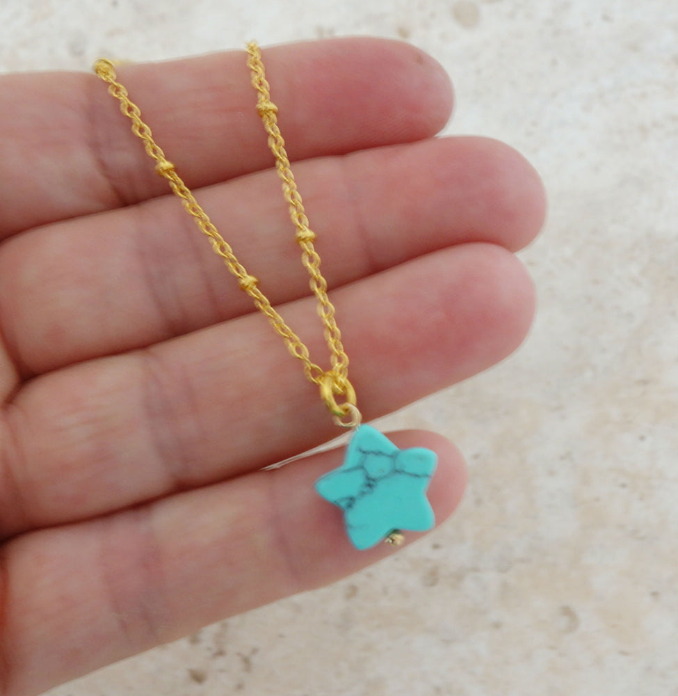 Gemstone Star Necklace by Handmade Dezigns