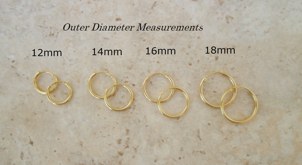 Simple Gold Hoops by Handmade Dezigns