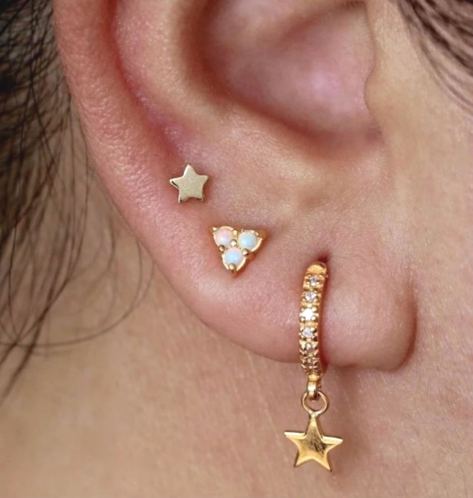 Sparkly Star Hoop Earrings