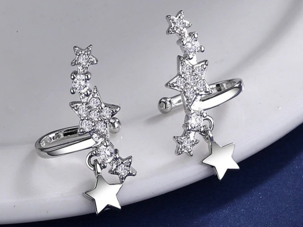 Monsella CZ Star Ear Cuffs