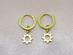 Tiny Sun Hoop Earrings