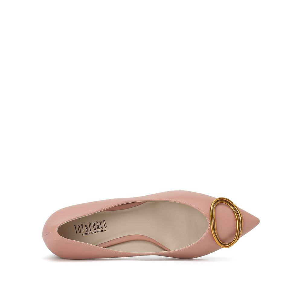 Metal Buckle Embellished Pumps - Joy & Peace staccato