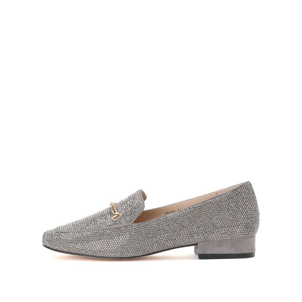 Crystal Embellished Loafers - Joy & Peace staccato