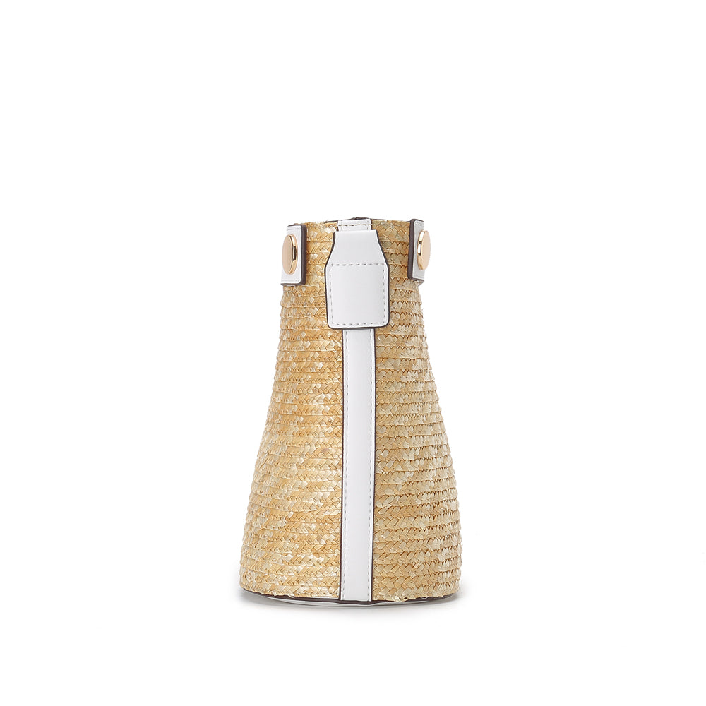 Woven Bucket Bag - Joy & Peace staccato