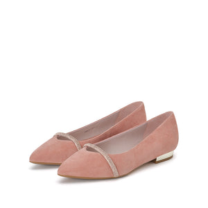 CRYSTAL EMBELLISHED FLATS - Joy & Peace staccato
