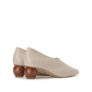 Leather Low Heels - Joy & Peace staccato