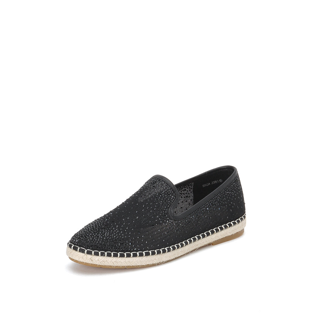 Crystal Embellished Mesh Flats - Joy & Peace staccato