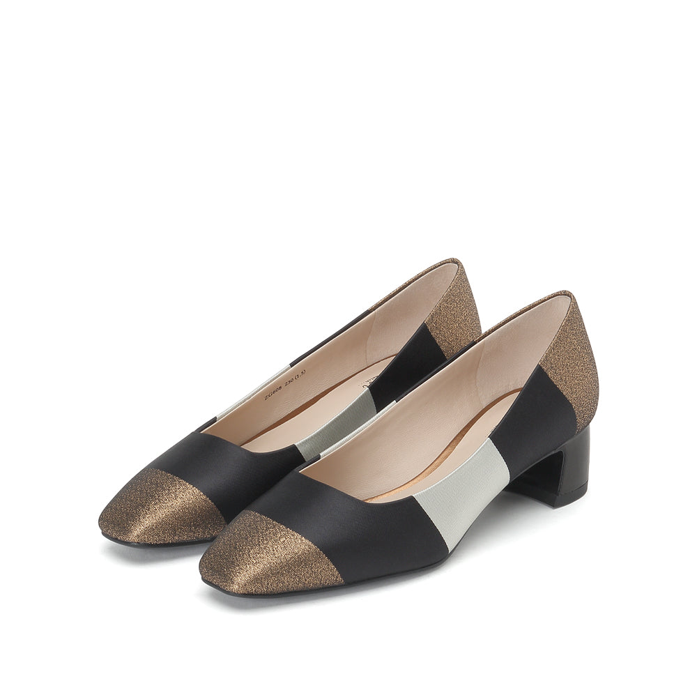 COLOR BLOCK HEELS - Joy & Peace staccato
